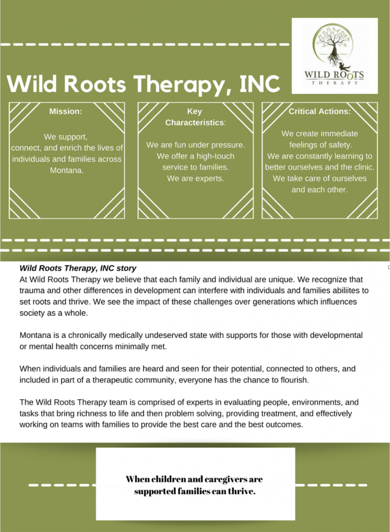 Wild Roots Therapy Join Our Team
